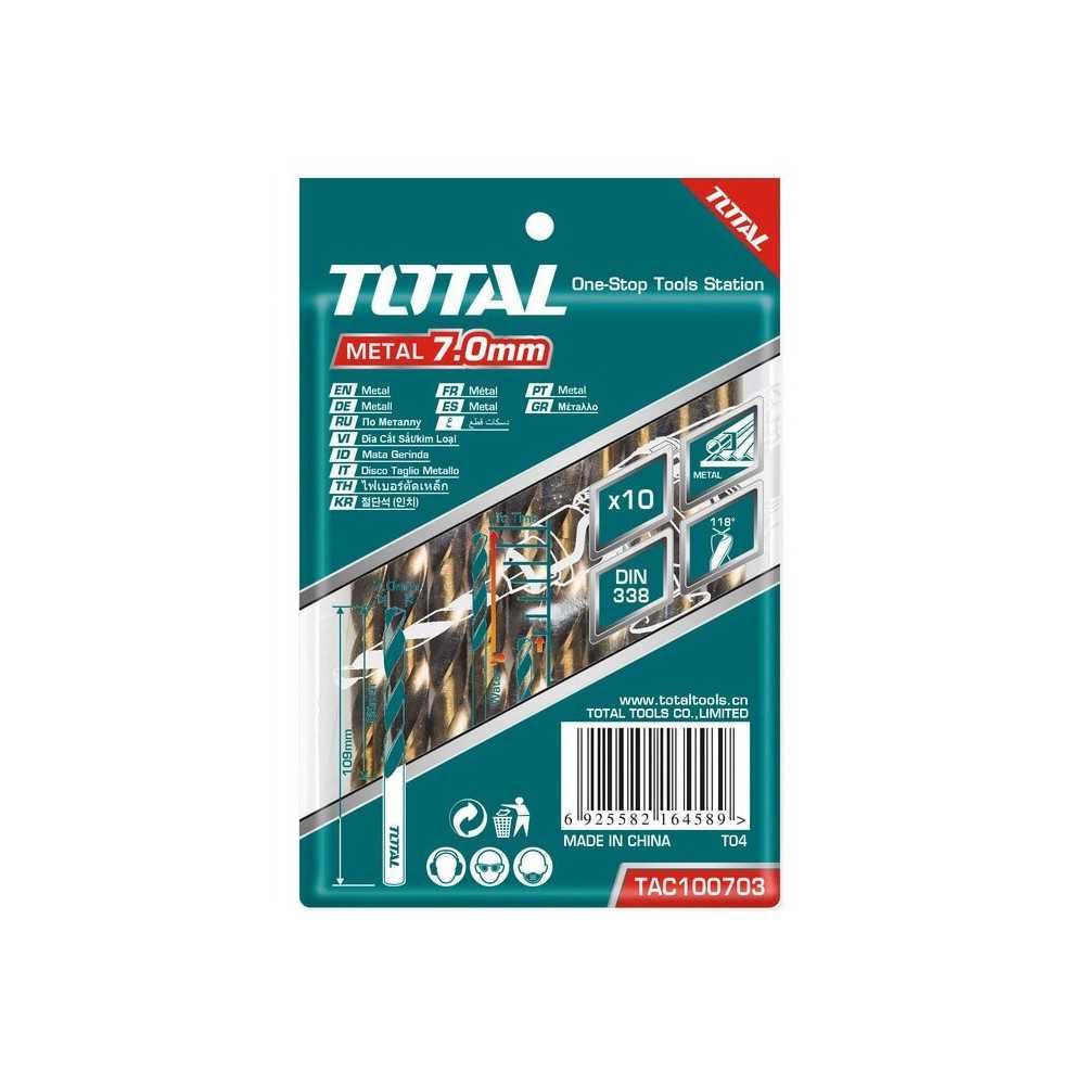 Broca Metal HSS 7mm Total Tools TAC100703