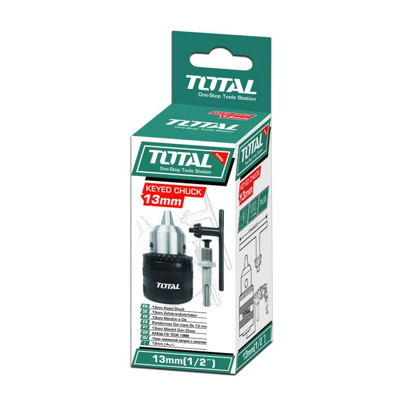 Mandril Taladro 13mm con Adaptador Total Tools TAC451301.1