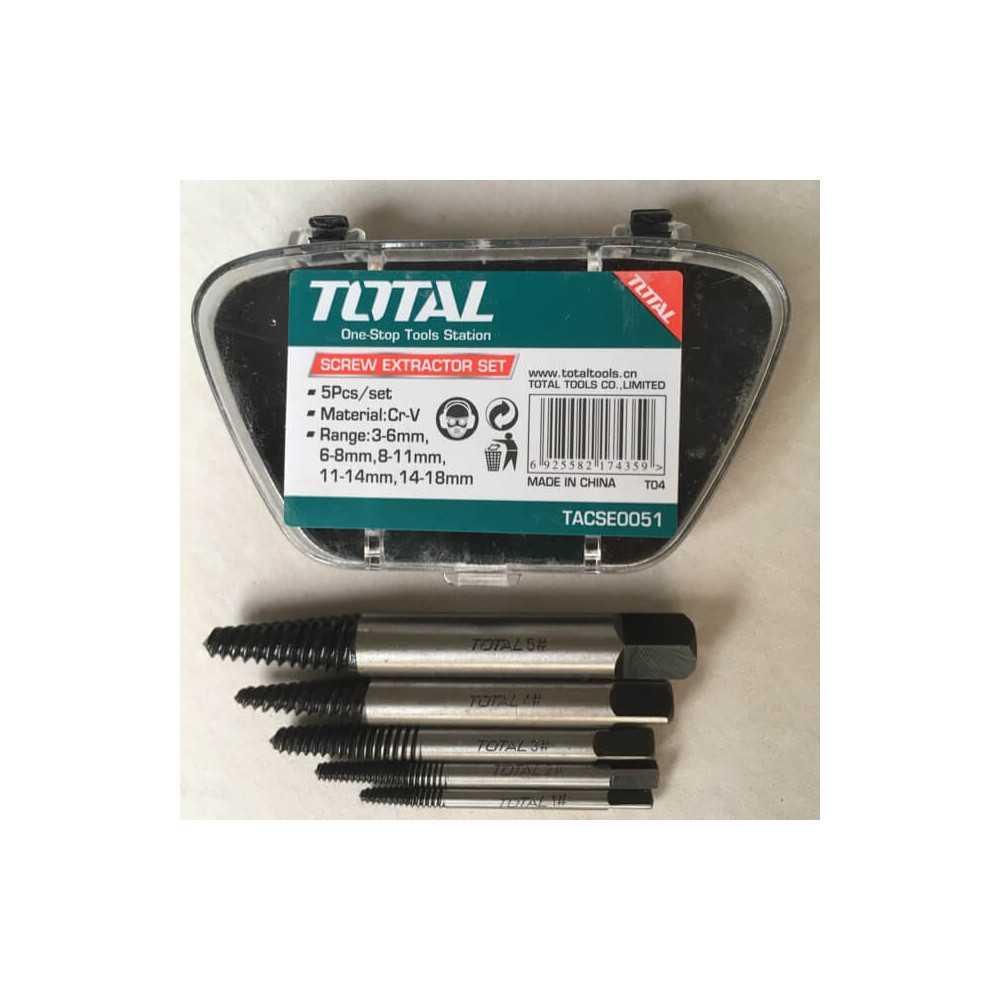 Set Extractor Tornillos 5 Piezas Total Tools TACSE0051