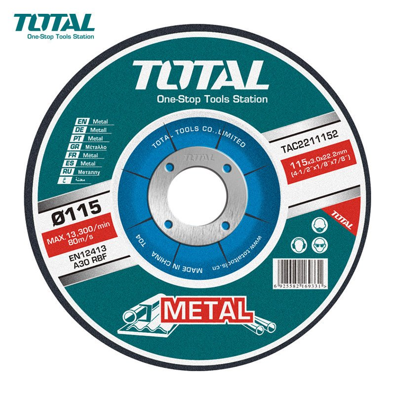 "Disco de Desbaste 4-1/2"" (115x6.9x22.2 mm) Total Tools TAC2231151"