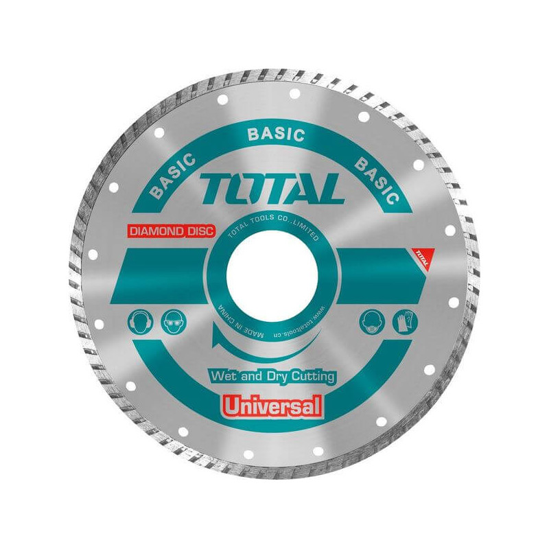 "Disco Diamantado Turbo 4-1/2"" (115X22mm) Total Tools TAC2131153"