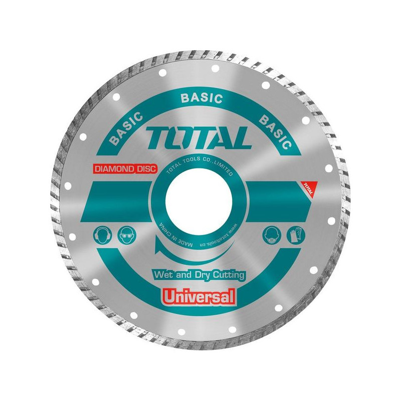 "Disco Diamantado Turbo 7"" (180X22mm) Total Tools TAC2131803"