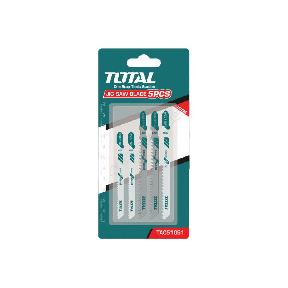 Set Hoja Sierra Caladora Metal-Madera-Aluminio 5 Pzs Total Tools TAC51051
