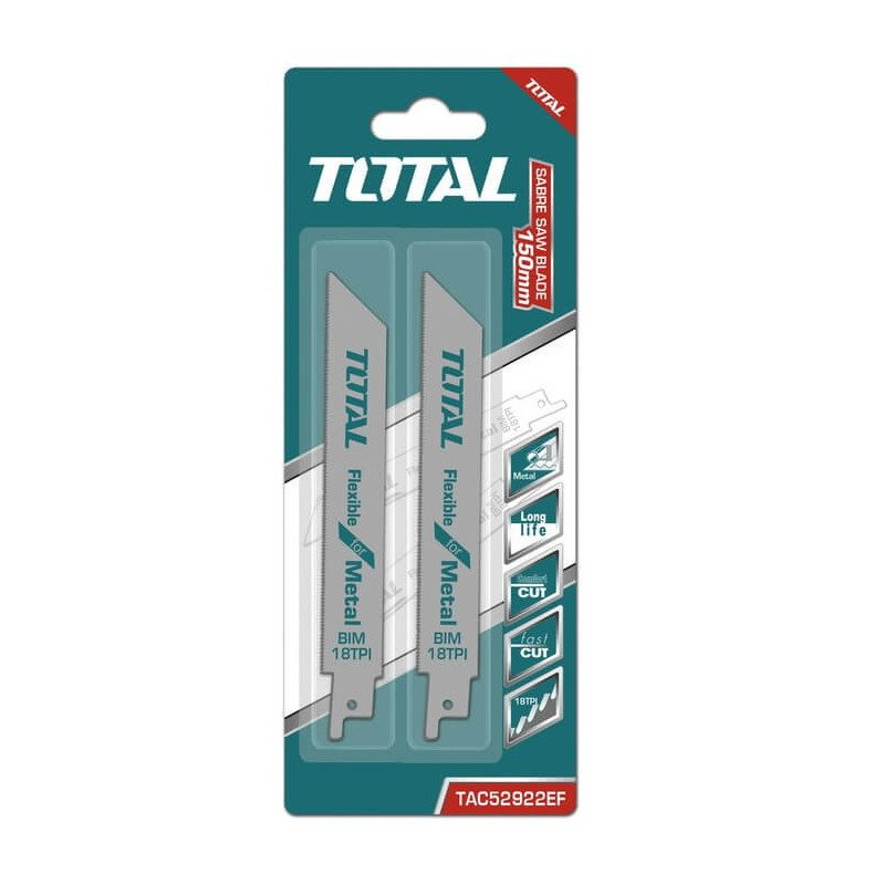 Set Hoja Sierra Sable para Metal 2 Pzs Total Tools TAC52922EF