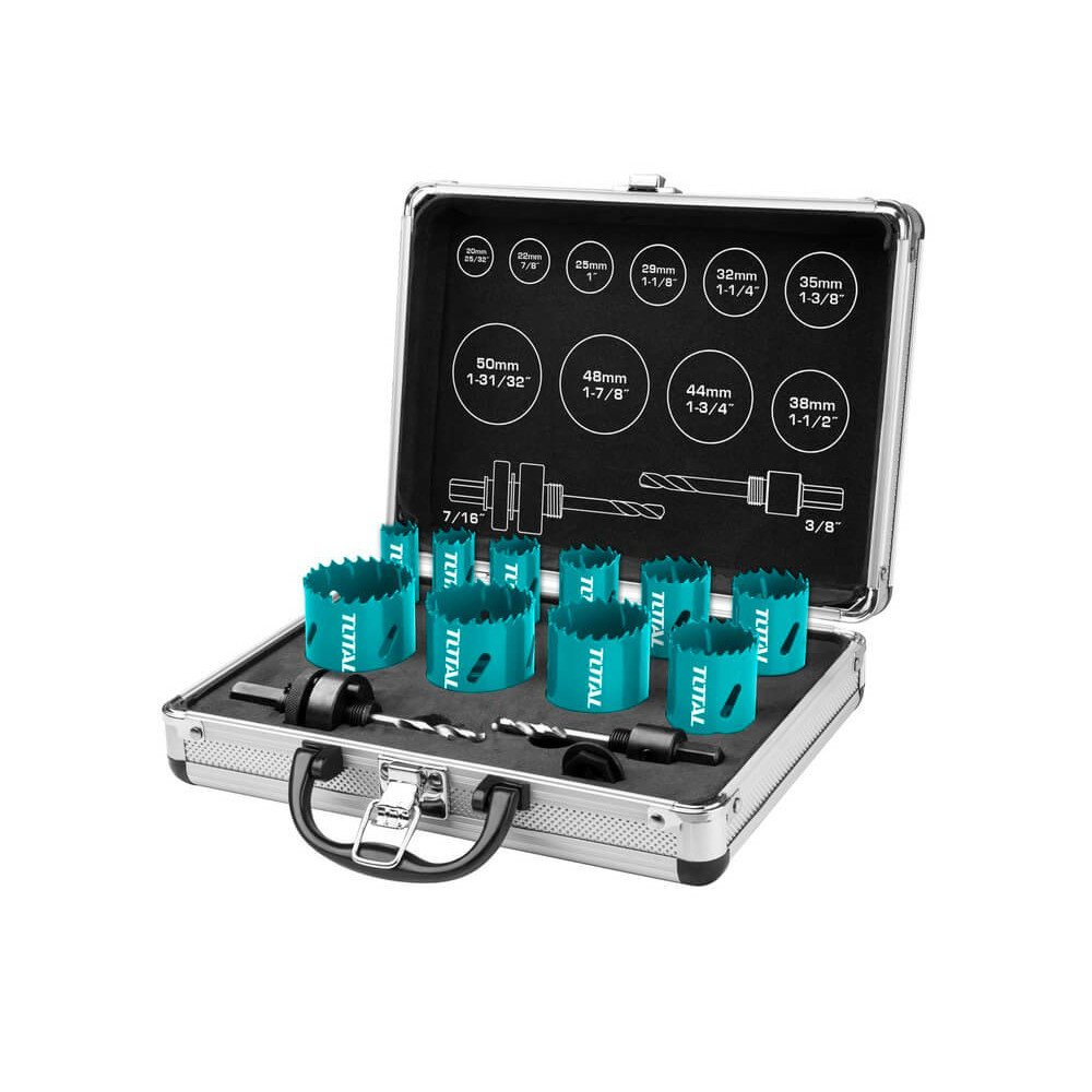 Set Sierra Copa Bi-Metal 12 Pzs Total Tools TACSH1121