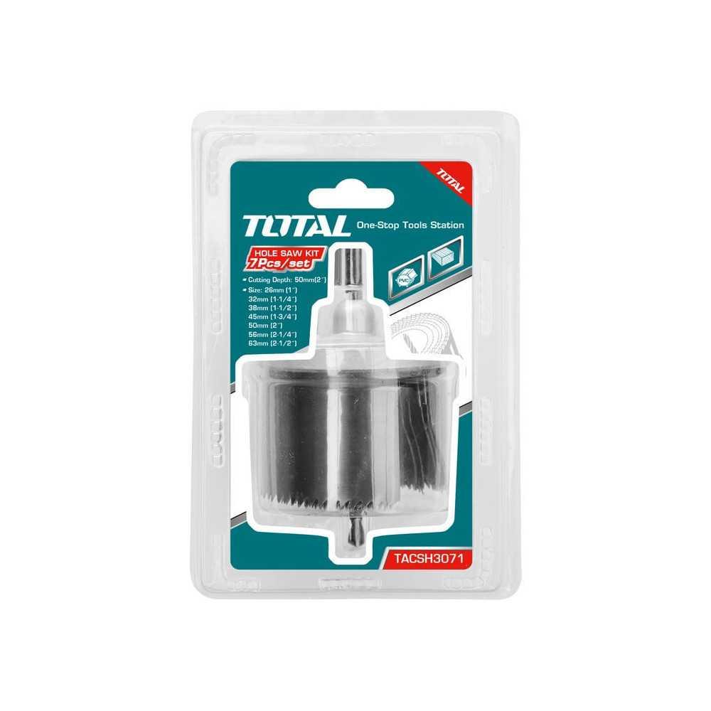 Set Sierra Copa para Madera 7 Pzs Total Tools TACSH3071