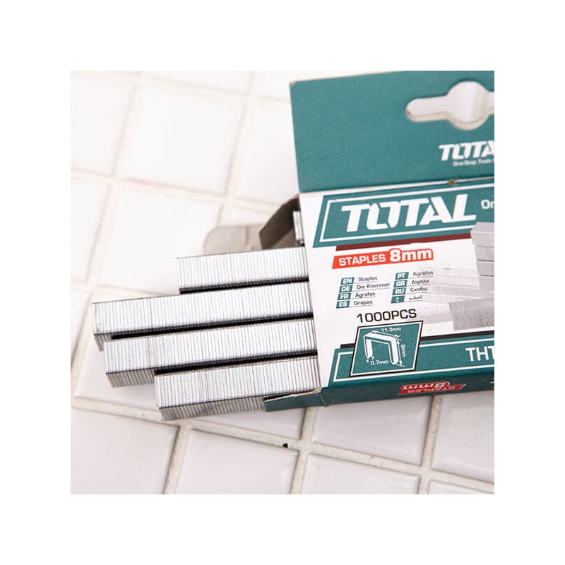 Corchete 8mmX0.7mm 1000 Pzs Total Tools THT3981
