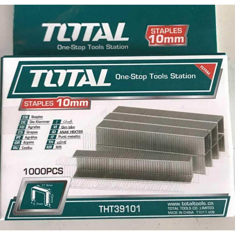 Corchete 10mmX0.7mm 1000 Pzs Total Tools THT39101