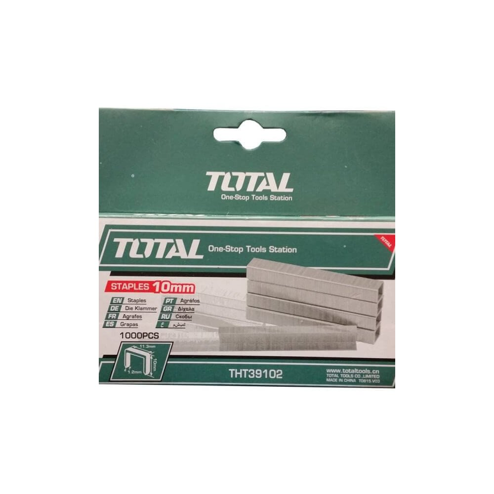 Corchete 10mmX1.2mm 1000 Pzs Total Tools THT39102