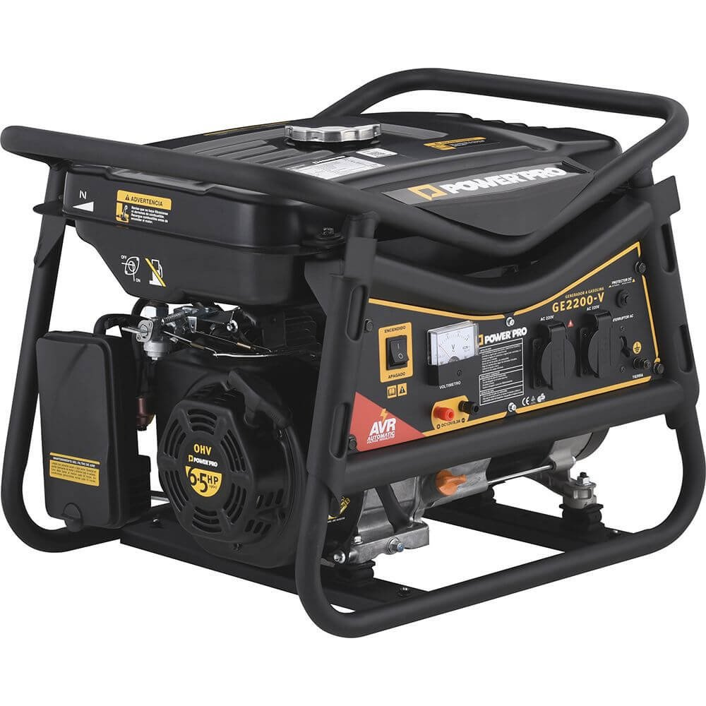 Generador Eléctrico Gasolina 2.2KVA GE2200 Power Pro 101011061