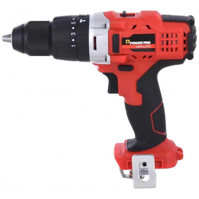 Taladro Atornillador Percutor Inalámbrico 13mm (Sin batería ni cargador) LB13ID Power Pro 103011450