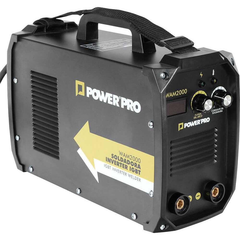 Soldadora INVERTER 200A 8.2kva WAM 2000 Power Pro 103011481