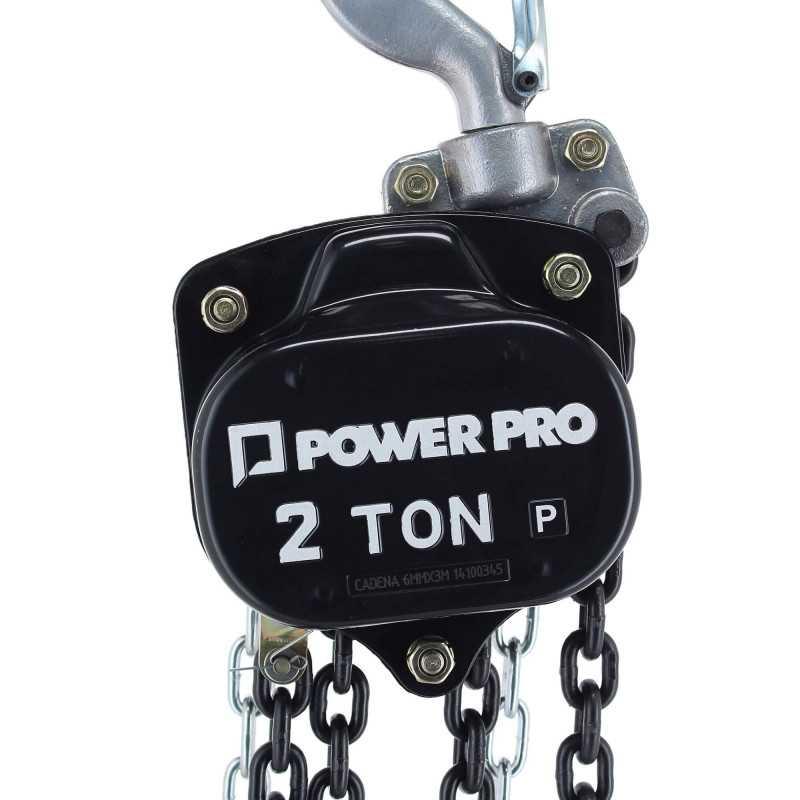 Tecle Cadena Manual 2 Toneladas Power Pro 103010763