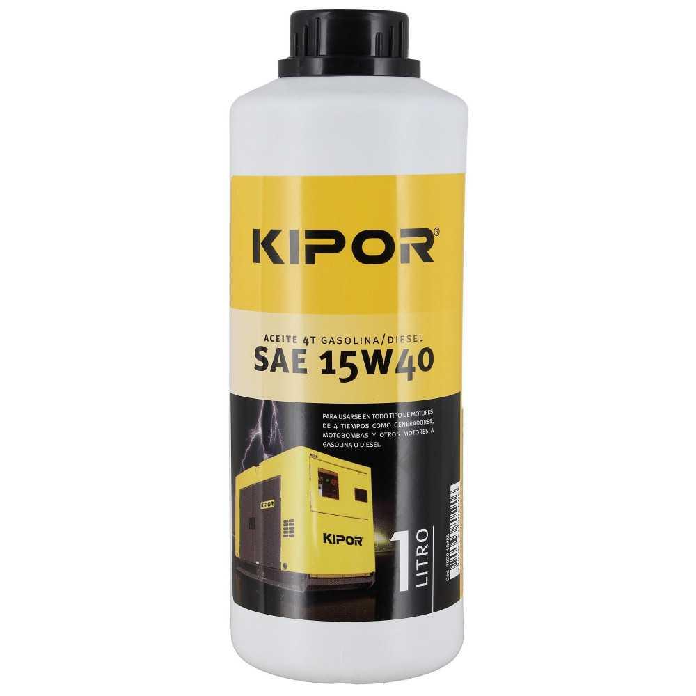 Aceite 4 Tiempos 1LT SAE 15W40 Kipor 103010485