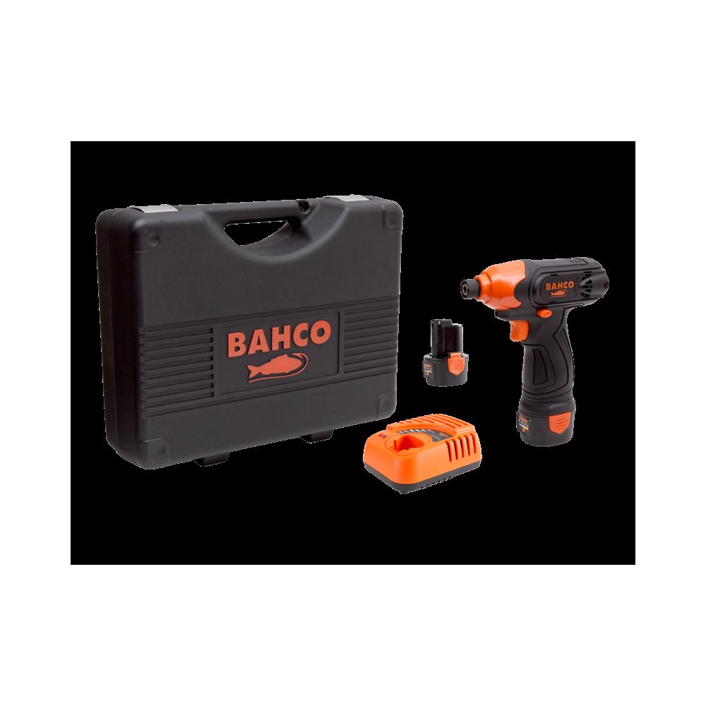 """Atornillador de Impacto Inalámbrico 12V 1/4"""" + 2 Baterías + Cargador + Maleta Bahco BCL31IS1K1"""