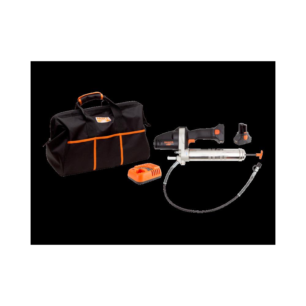 Engrasadora Inalámbrica 14.4V + 2 Baterías + Cargador + Bolso Bahco BCL32G1K1
