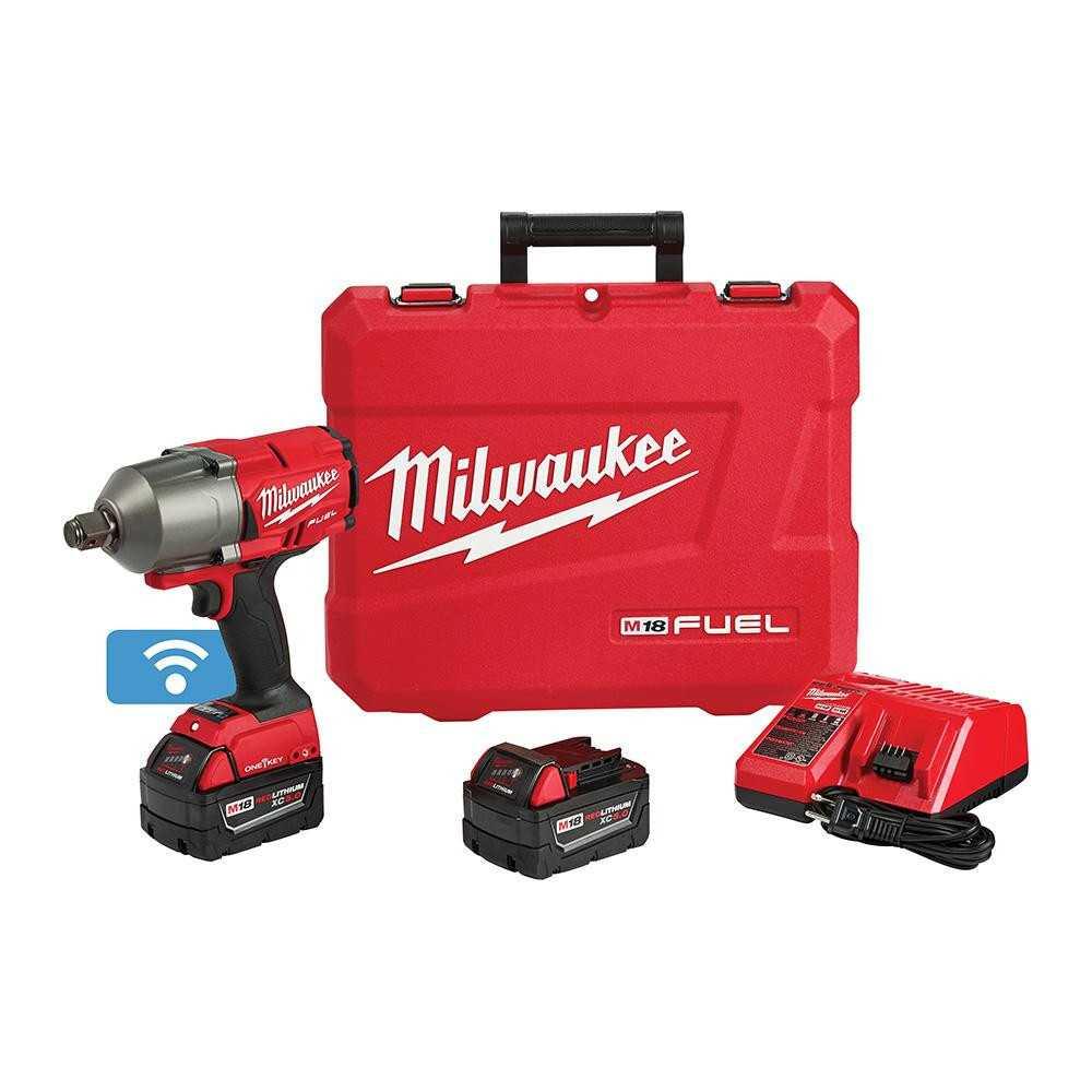 """Llave de Impacto Inalámbrica 3/4"""" M18 FUEL+ 2 Baterías 5.0XC + Cargador y Maleta Milwaukee 2864-259"""