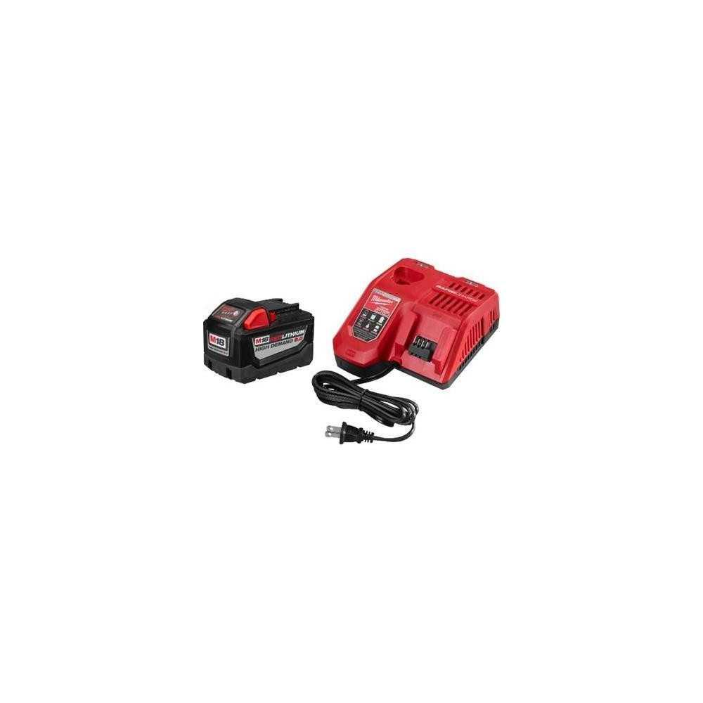 Batería 9.0AH Con Cargador Rápido Kit M18 Milwaukee 48-3959