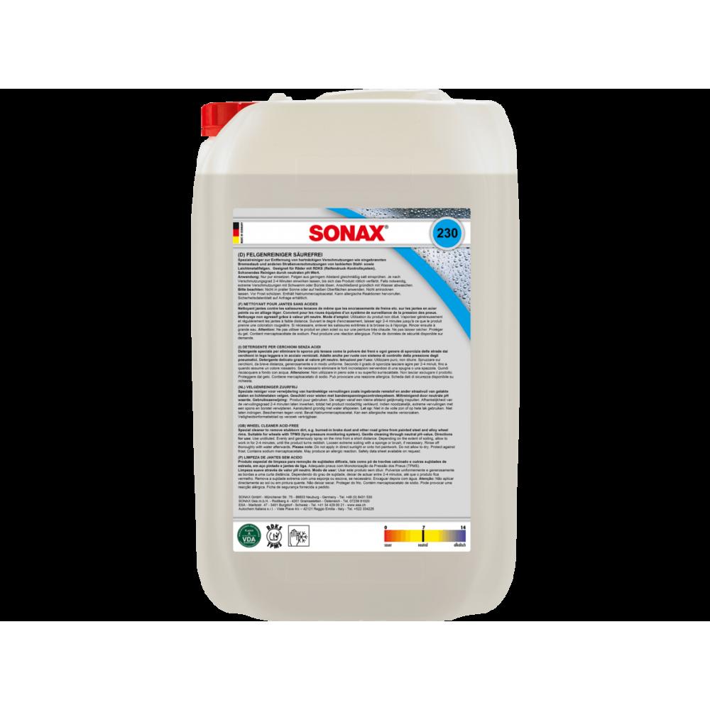 Limpiador De Llantas Universal Sin Acido 5 Lts Sonax 34230500