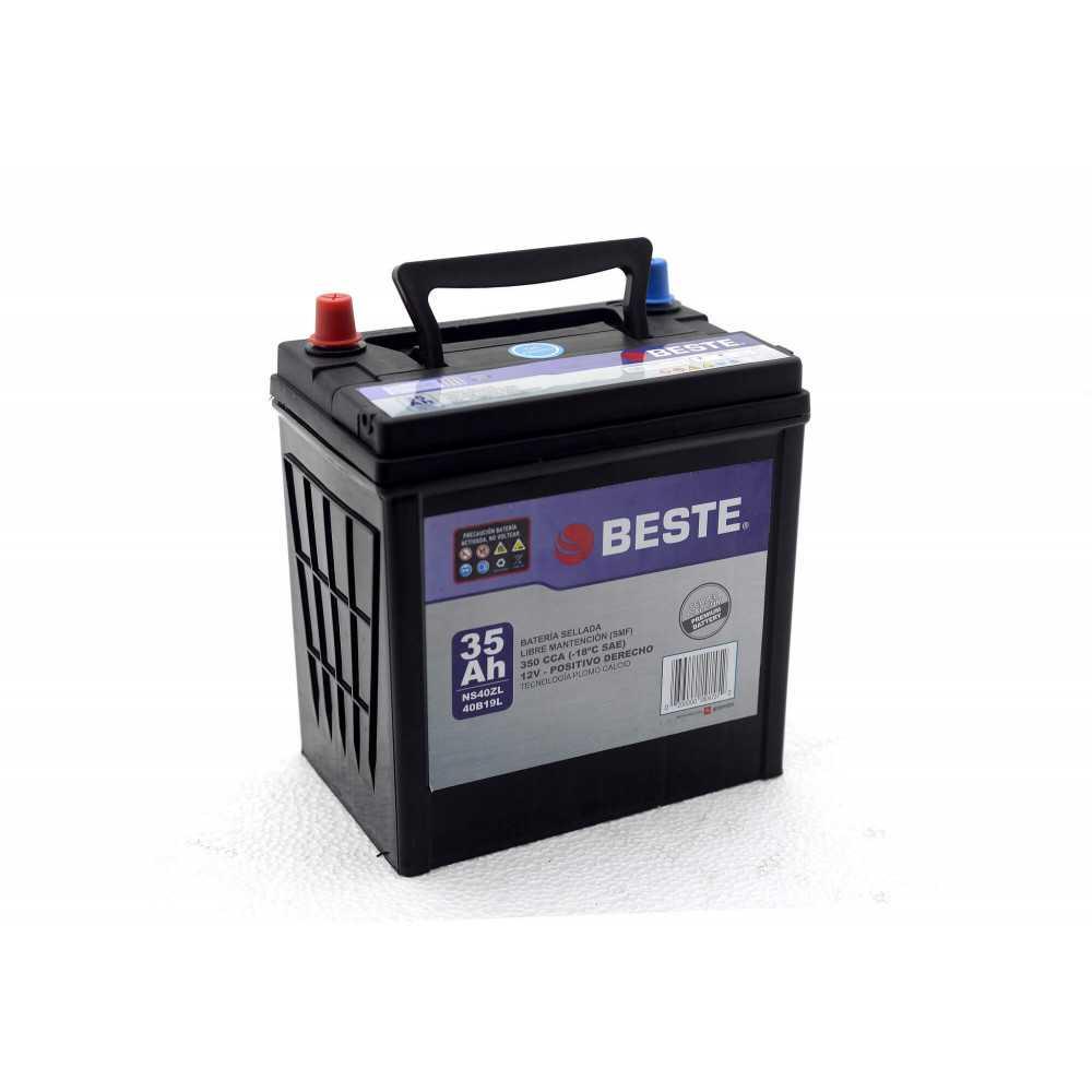 Batería de Auto 35Ah 12v Positivo derecho Beste 39NS40ZLGB