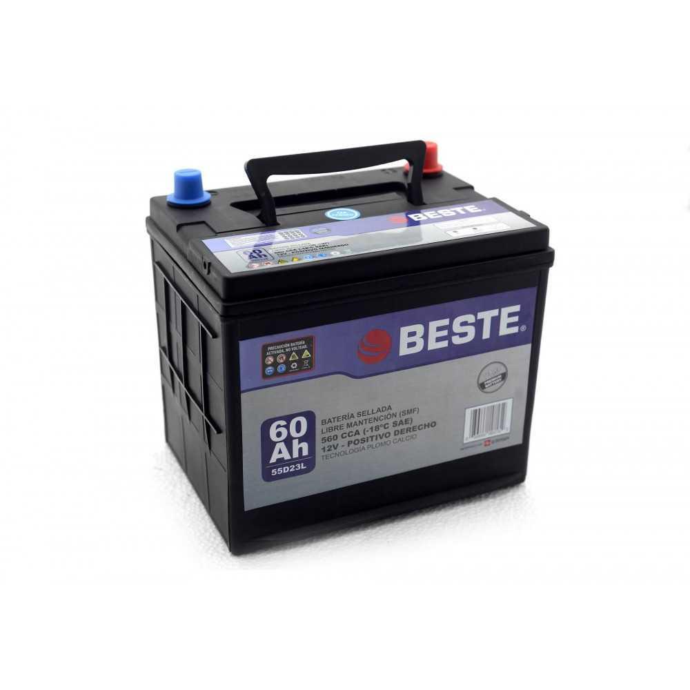 Batería para Automóvil 60Ah Positivo derecho Beste 3955D23LGB