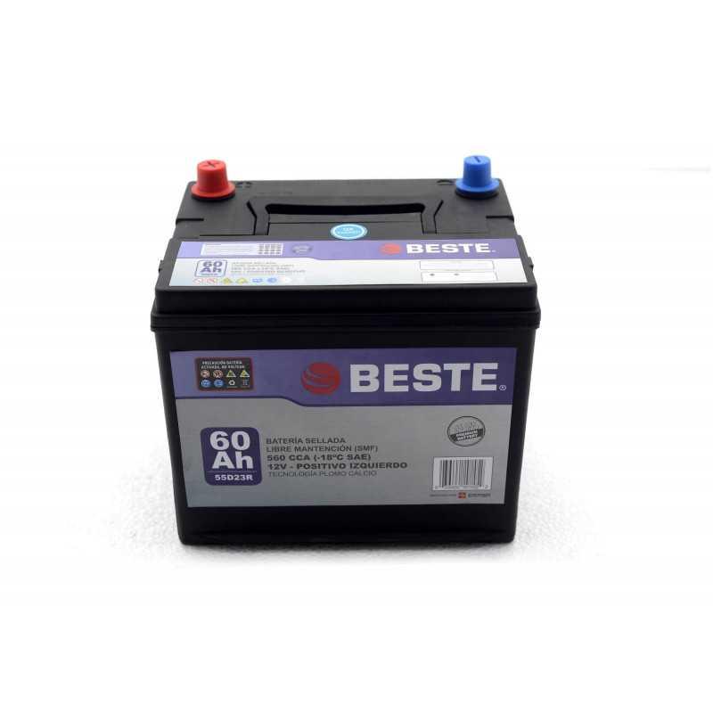 Batería de Auto 60Ah Positivo izquierdo Beste 3955D23RGB