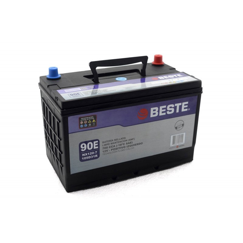 Batería de Auto 90Ah Positivo izquierdo Beste 39NX120-7GB