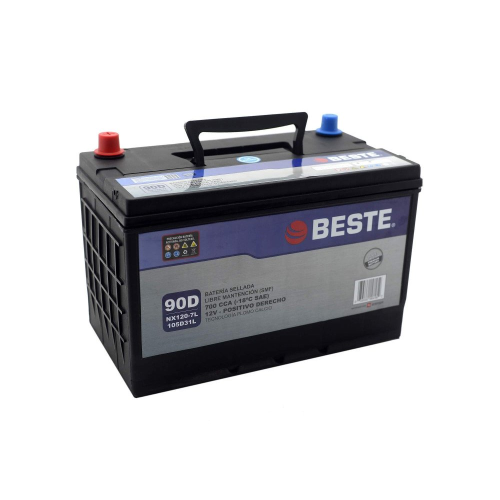 Batería para Automóvil 90Ah Positivo derecho Beste 39NX120-7LGB