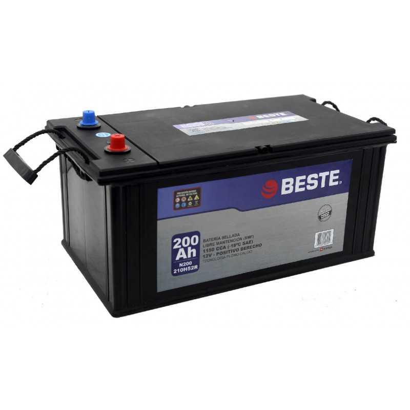 Batería para Automóvil 200Ah Positivo derecho Beste 39N200GB