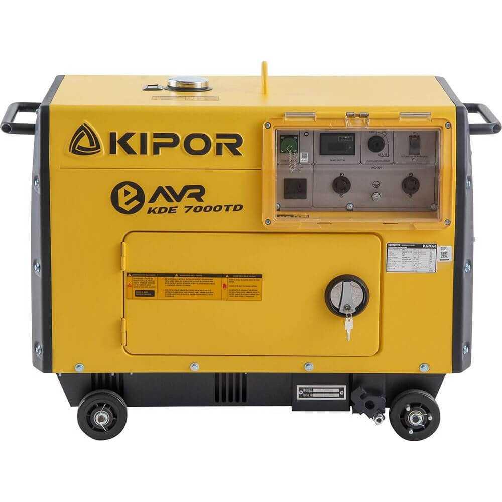 Generador Eléctrico Insonorizado Monofásico Diésel KDE-7000TD 5.0 Kva Kipor 305010004