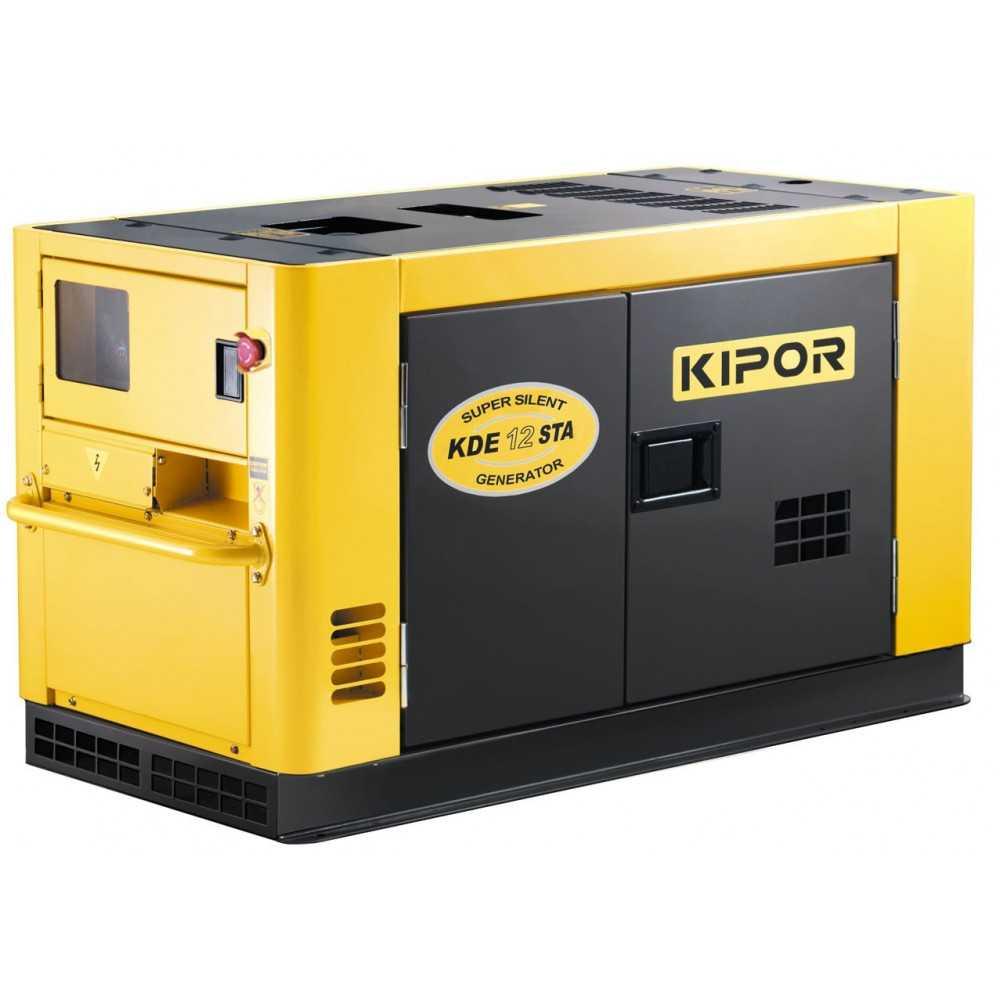 Generador Eléctrico Insonorizado Monofásico Diesel 9.5kva KDE12STAF Kipor 305010008