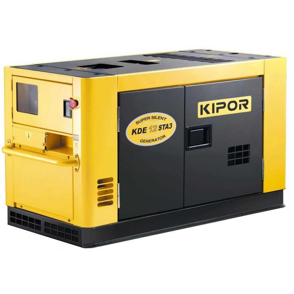 Generador Eléctrico Insonorizado Trifásico Diesel 8.4kw KDE12 STAF3 Kipor 305010007