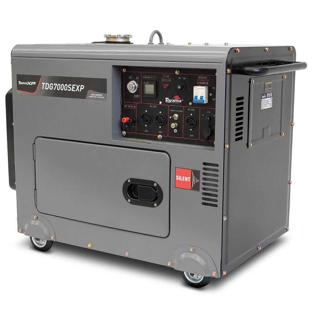 Generador Eléctrico Diésel Partida Eléctrica TDG7000SEXP Silencioso S/ATS 5.5 KW Toyama 251-071C