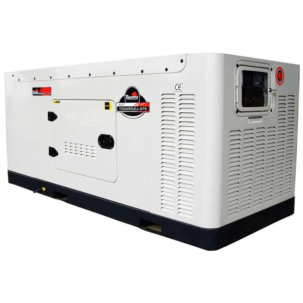 Generador Eléctrico Diésel 17.6 KW Trifásico Cabinado Con ATS Toyama TD20SGEJ-ATS