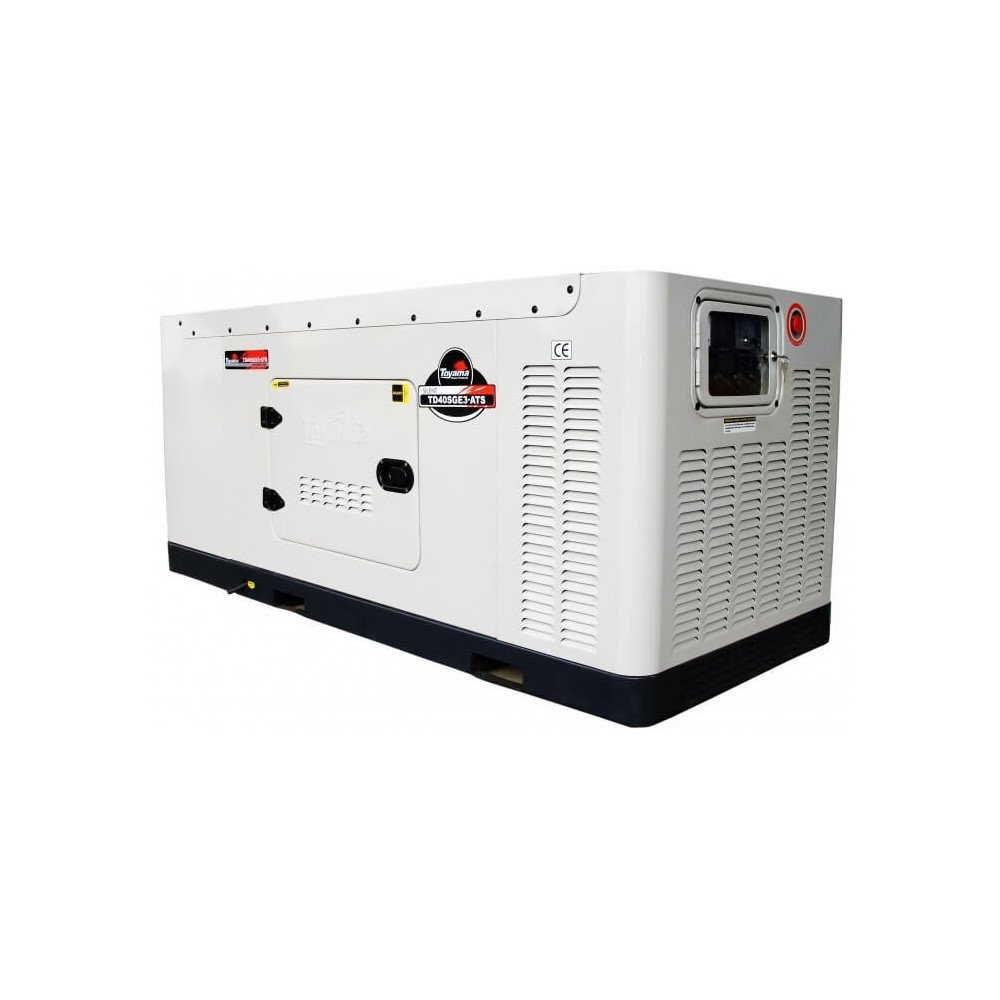 Generador Diésel 41.25 KW Trifásico Cabinado Con ATS Toyama TD40SGEJ-ATS