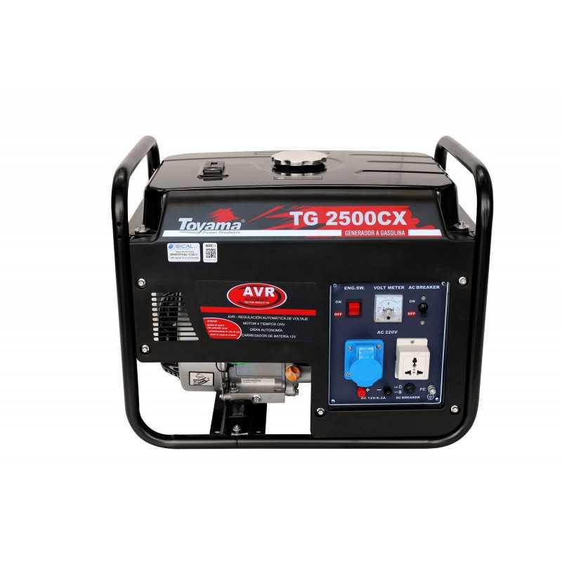 Generador Eléctrico Gasolina Partida Manual 2200 W Motor 6.5 HP Toyama TG2500CX1J-A