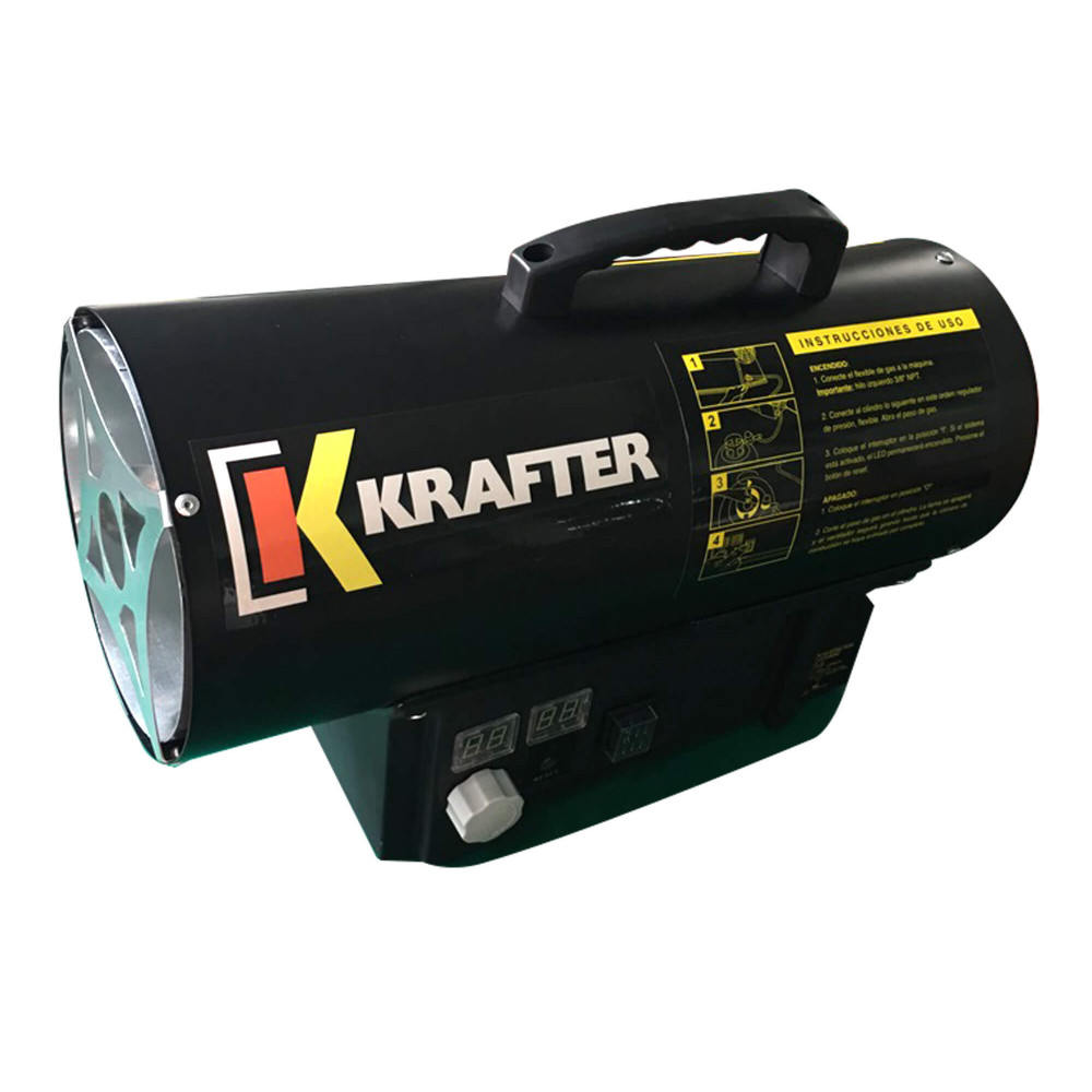 Turbo Calefactor a gas 30 KW Modelo TG30 Krafter 1810000003013