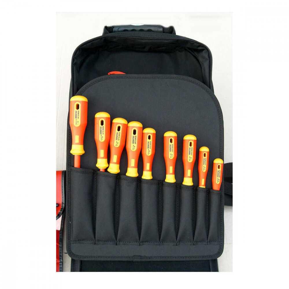 Mochila para electricista con 22 herramientas Bernstein P8300VDE
