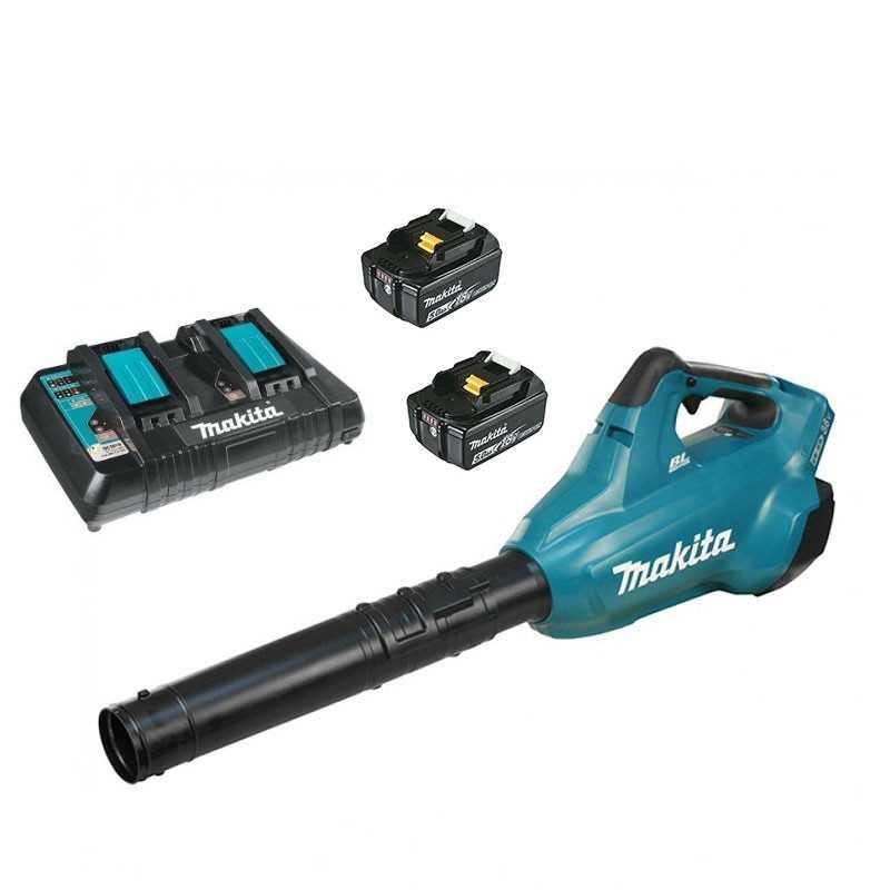 Sopladora de Aire (2 baterías 18V 5.0 Ah + cargador doble) Makita DUB362RT2