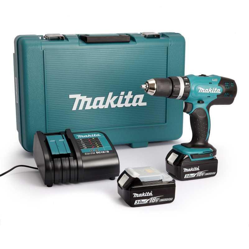 Taladro Atornillador Percutor Inalámbrico 42 Nm 18V Makita DHP453SFE