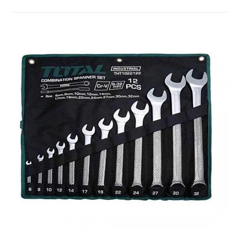 Juego de Llaves Punta Corona 12 Pcs Total Tools THT1022122