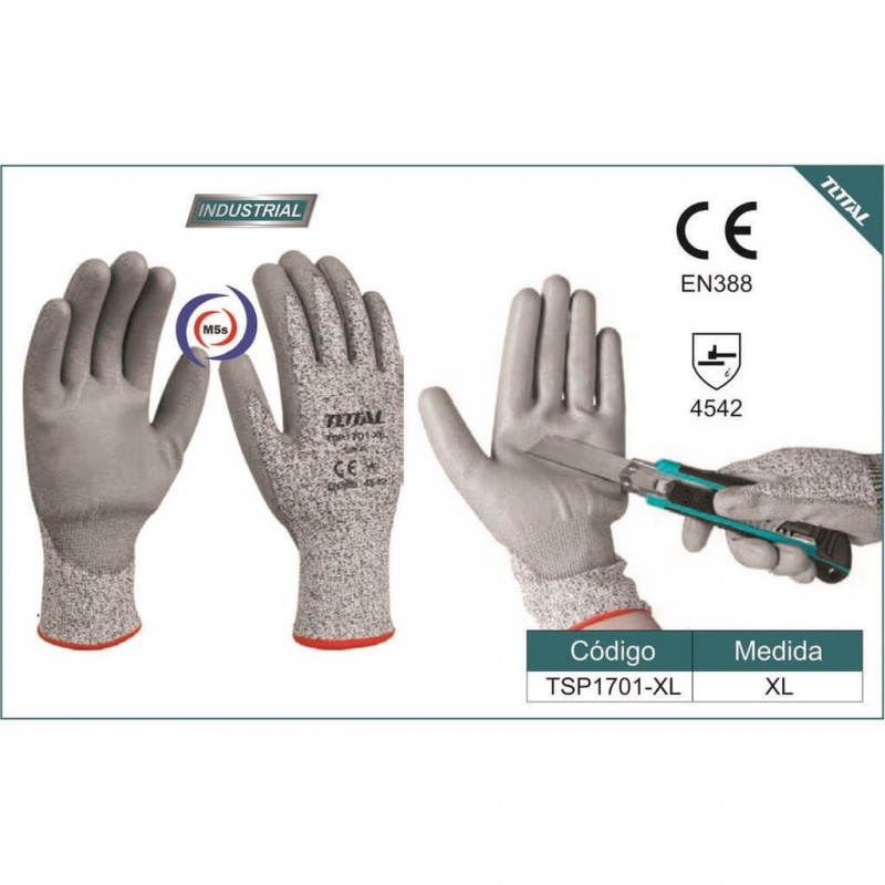 Guantes Anticorte Talla XL Total Tools TSP1701-XL
