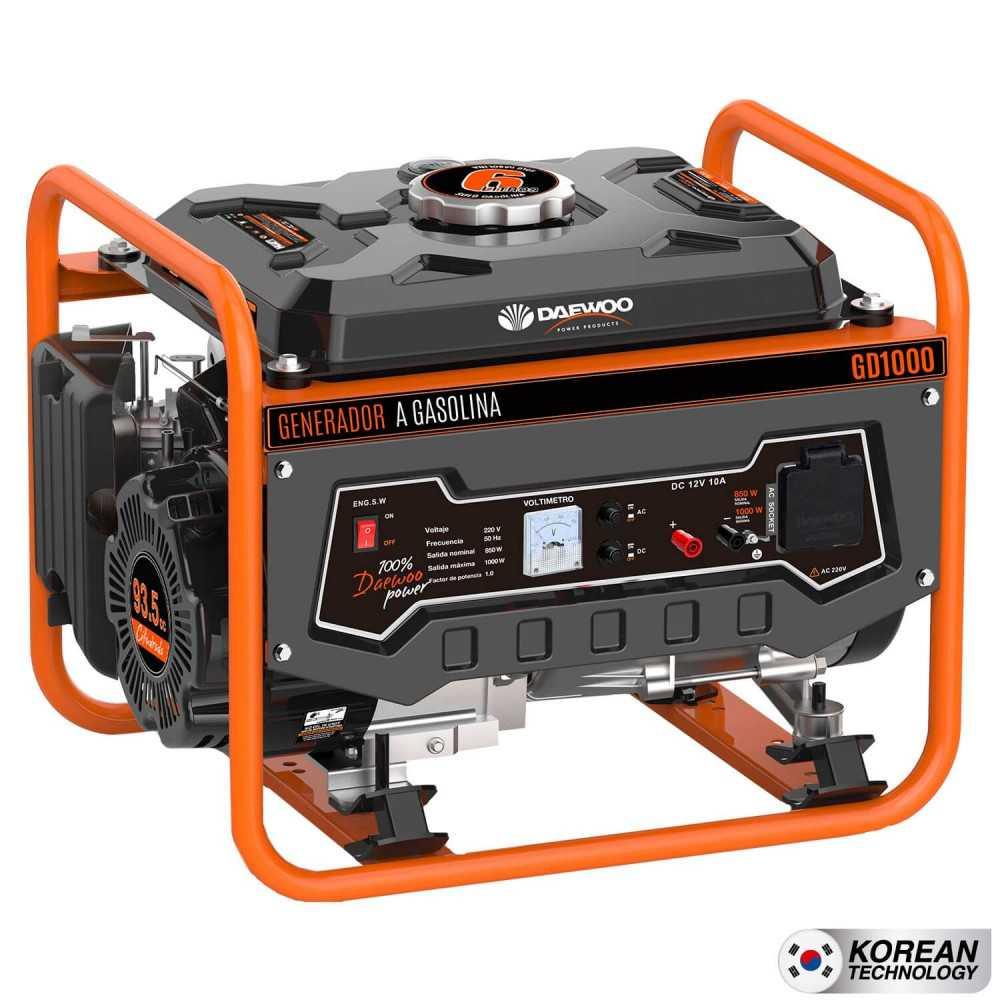 Generador Eléctrico a gasolina 1kva Partida manual GD1000 Daewoo 7799034005794