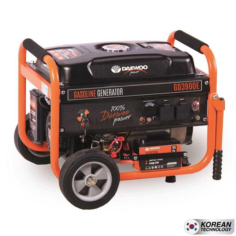 Generador Eléctrico a gasolina 3 kva partida eléctrica GD3900E Daewoo 7799034025327