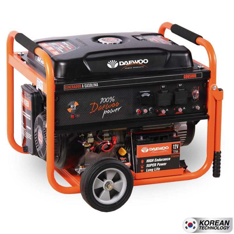 Generador a gasolina 5.5kva partida electrica GD6500E Daewoo 7799034005121