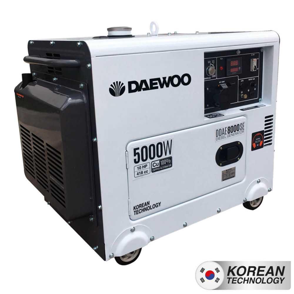 Generador Eléctrico Diesel 5.0 KW Partida electrica Insonoro DDAE8000SE Daewoo 7799034000065