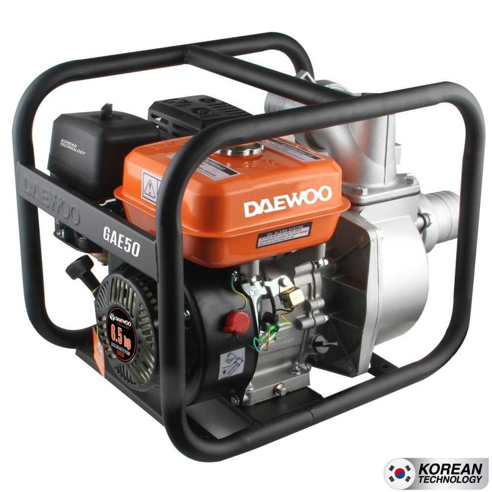 """Motobomba a gasolina 2""""x2"""" Partida Manual Agua Limpia GAE50 Daewoo 7798125044551"""