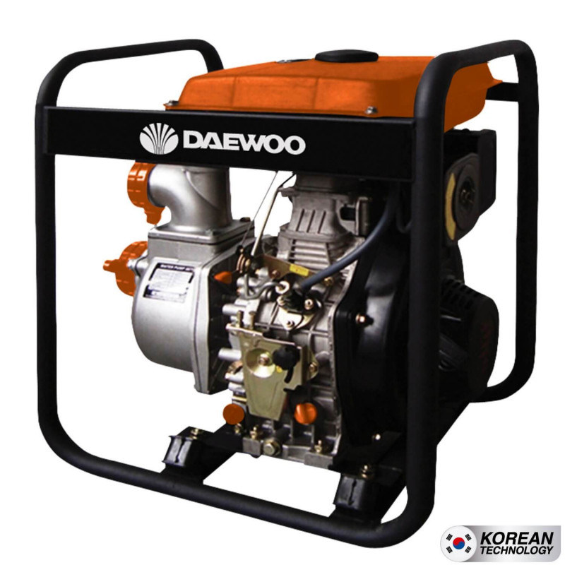 """Motobomba Diesel 3""""x3"""" Partida Eléctrica Agua Limpia DDA80E Daewoo 7798125044599"""