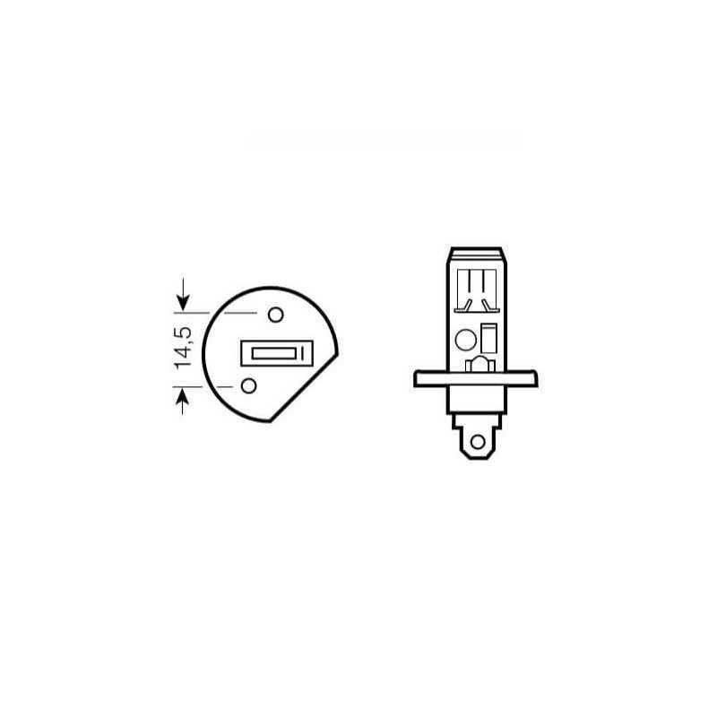 Ampolleta para Automóvil Foco Mayor - Luces Bajas 12V 55W H1 Estándar Bosch 110986AL1500