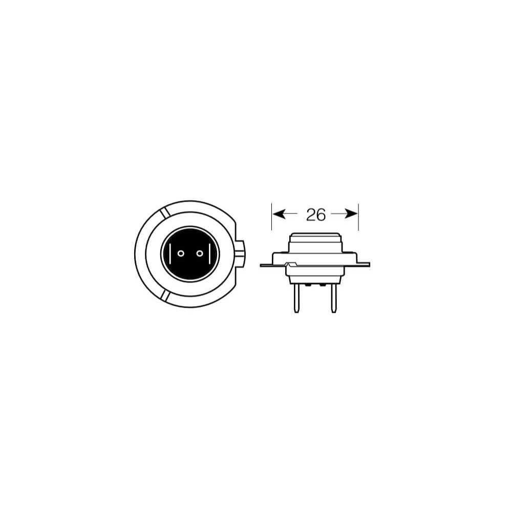 Ampolleta para Automóvil Foco Mayor - Luces bajas 24V 70W H7 Estándar Bosch 110986AL1526
